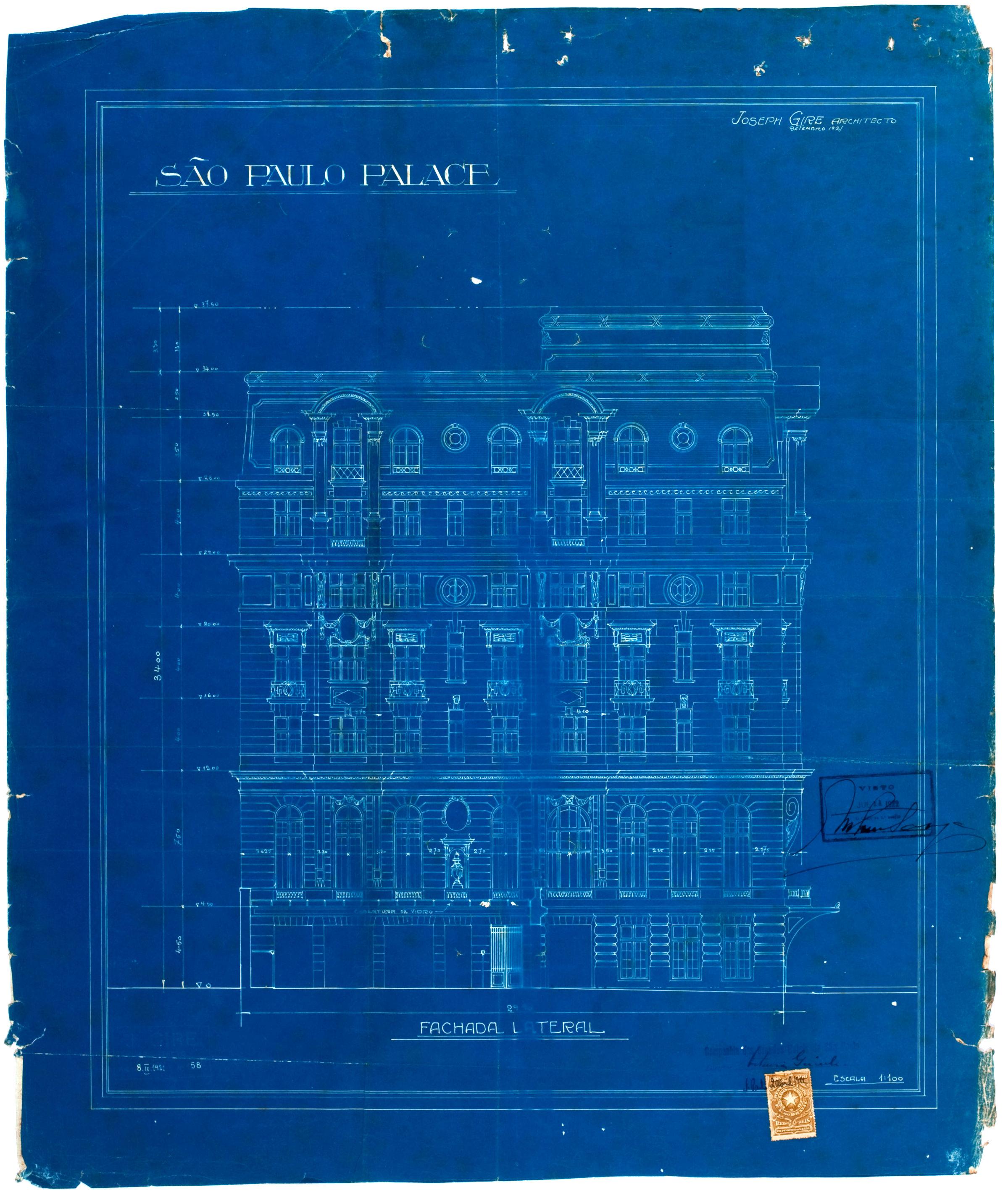 Esplanada Hotel, 1922 - fachada noroeste