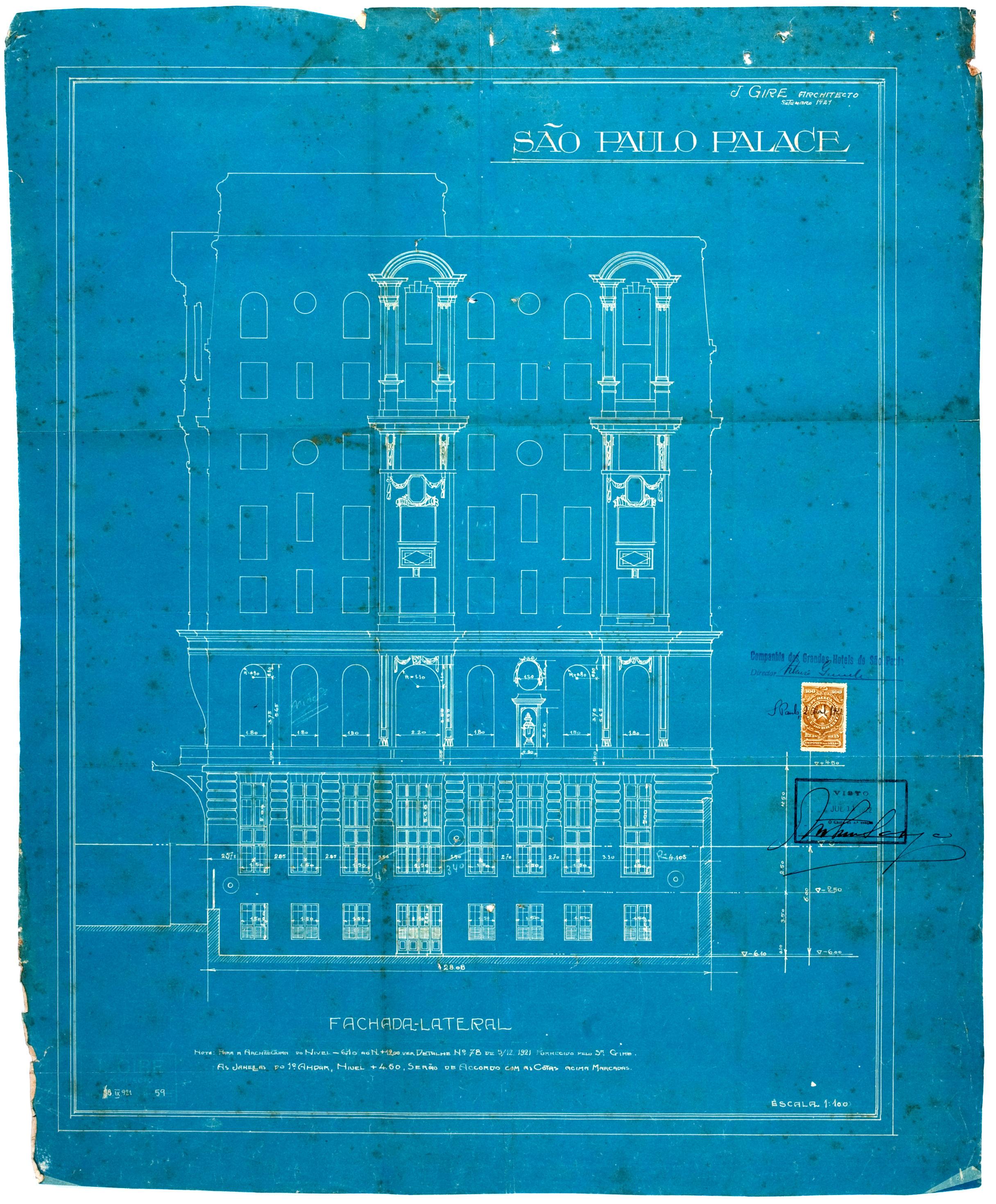 Esplanada Hotel, 1922 - fachada sudeste