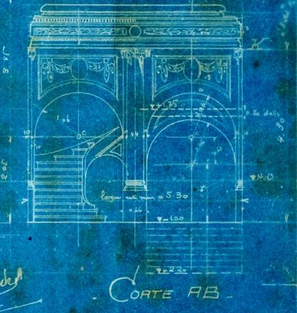 Esplanada Hotel, 1922 - fachada - terreo - detalhe do vestíbulo